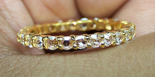 eternity ring igi yellow certified gold platinum carat dp band or bands diamond