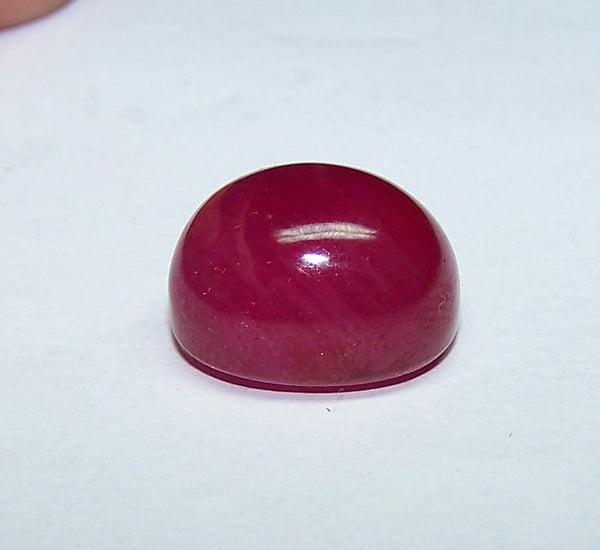 35.20 cts Mozambique Ruby Smooth High Dome Oval Cabochon Gem, Great color, Loose Gemstone AAA