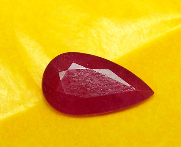 5.43 cts Mozambique Ruby Faceted Pear Gem, Great color , Loose Gemstone AAA