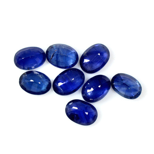 7.34 Cts Natural Royal Blue Sapphire Loose Oval Cut Lot/Parcel 7 x 5 mm Size, Wholesale. AAA 8 Pieces