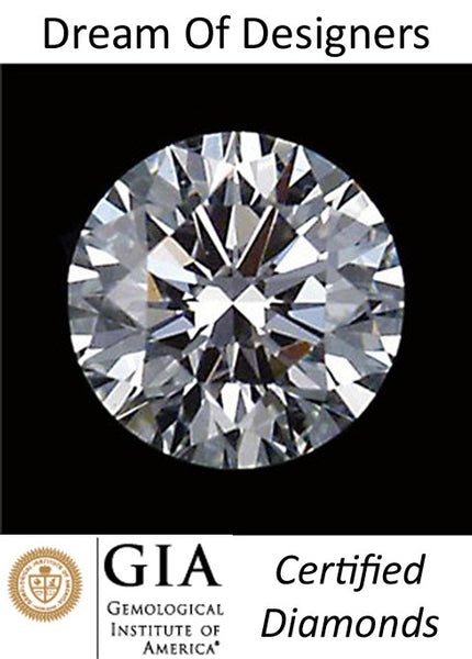 GIA Certified Diamond Solitaire 0.50 cts Round Cut, D/VVS2 Loose, Excellent Cut, Very Good Symmetry, Very Good Polish > AAA