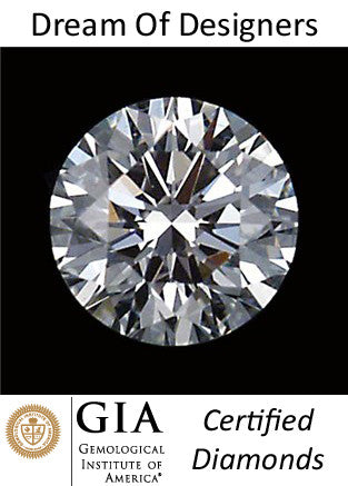 GIA Certified Diamond Solitaire 0.51 cts Round Cut, H/VVS1 Loose, Excellent Cut, Excellent Symmetry, Excellent Polish > AAA