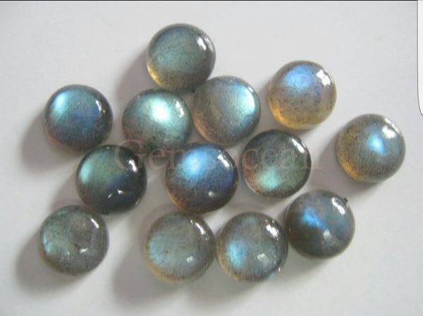 Amazing Multi Rainbow Fire Labradorite, Masterpiece Calibrated 5 mm Round Smooth Cabochons, 100 % Natural Loose Gemstone