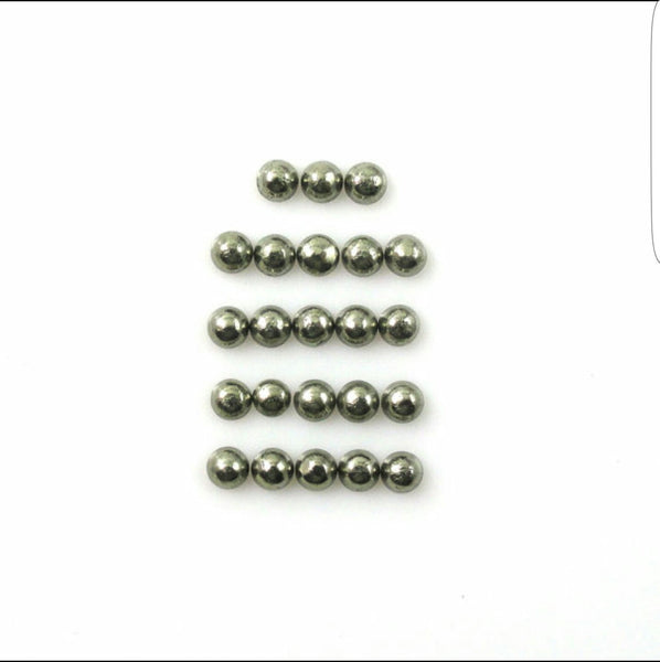 Masterpiece Calibrated 3 x 3 mm Round Smooth Cabochons of Pyrite, 100 % Natural Loose Gemstone