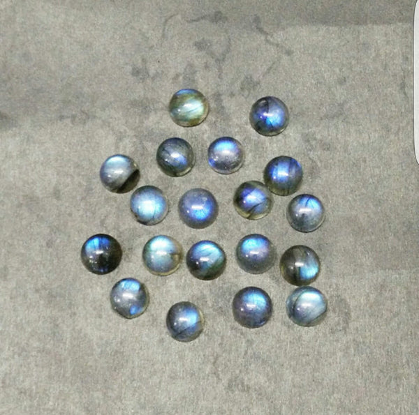 Amazing Multi Rainbow Fire Labradorite, Masterpiece Calibrated 3 mm Round Smooth Cabochons, 100 % Natural Loose Gemstone