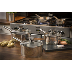 Swan 5 Piece Pan Set with Pouring S/Steel