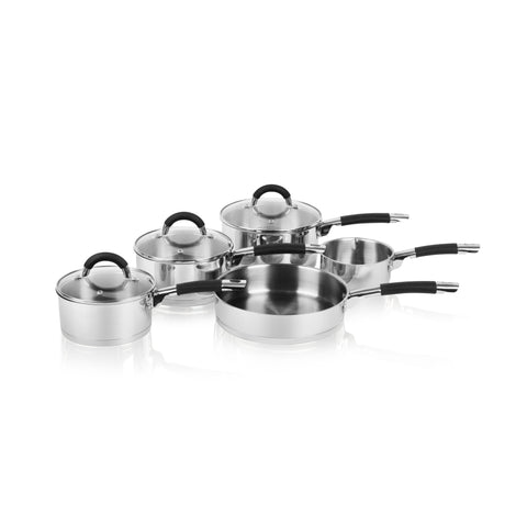 Swan 5 Piece Pan Set S/Steel