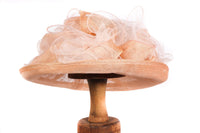 Mad Hatters peach formal hat