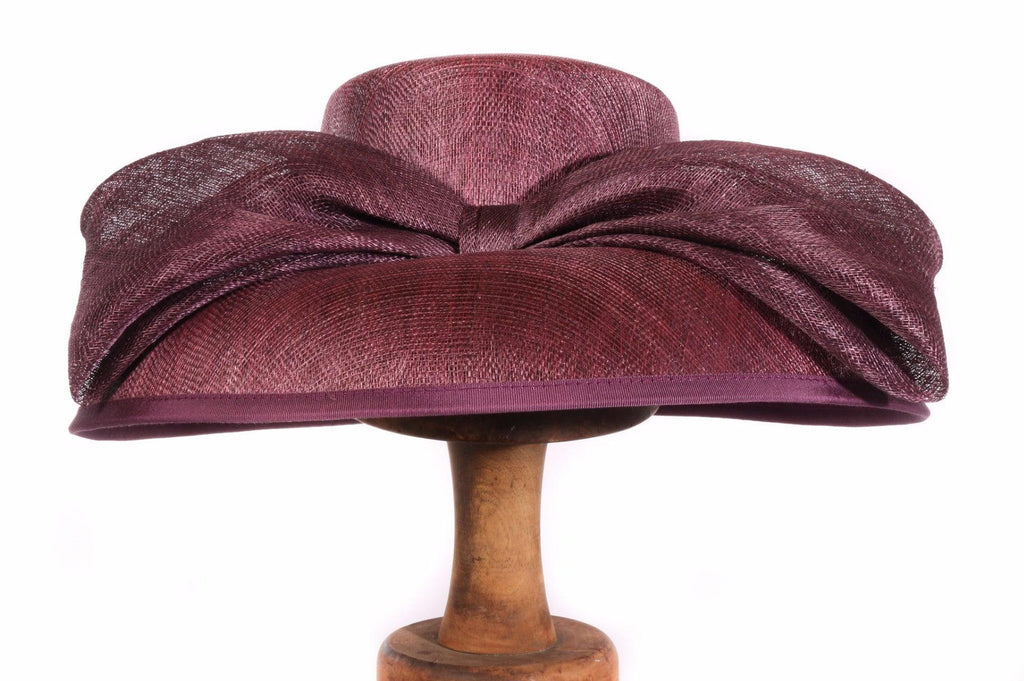 Balfour purple formal hat with bow front