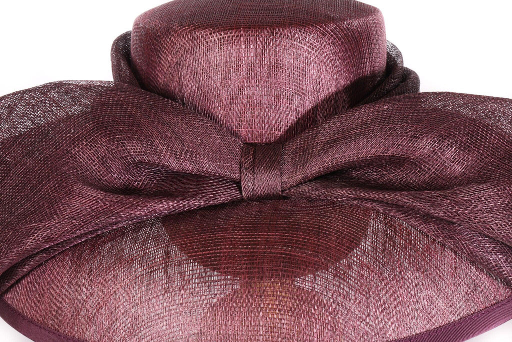 Balfour purple formal hat with bow detail