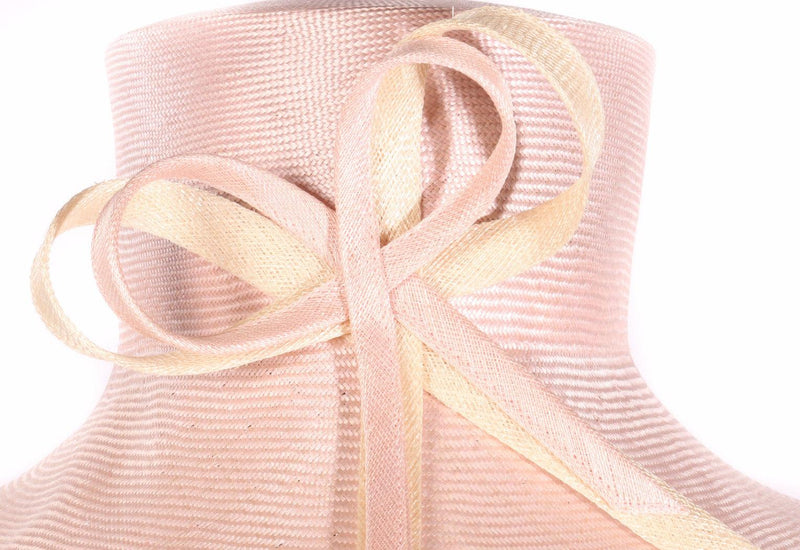 Whiteley pink hat with bow detail  side