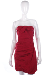 Pinko red strapless cocktail dress, size 12