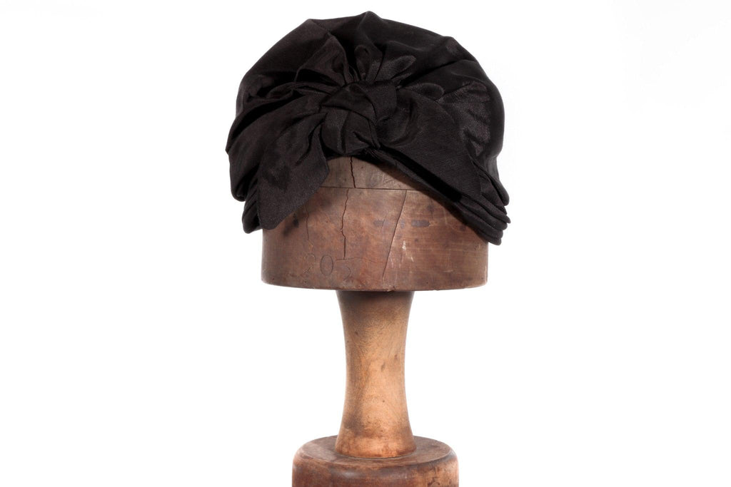Brown turban vintage hat