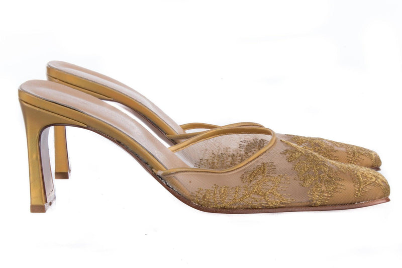 Les Outres gold shoes size 38 (UK5)