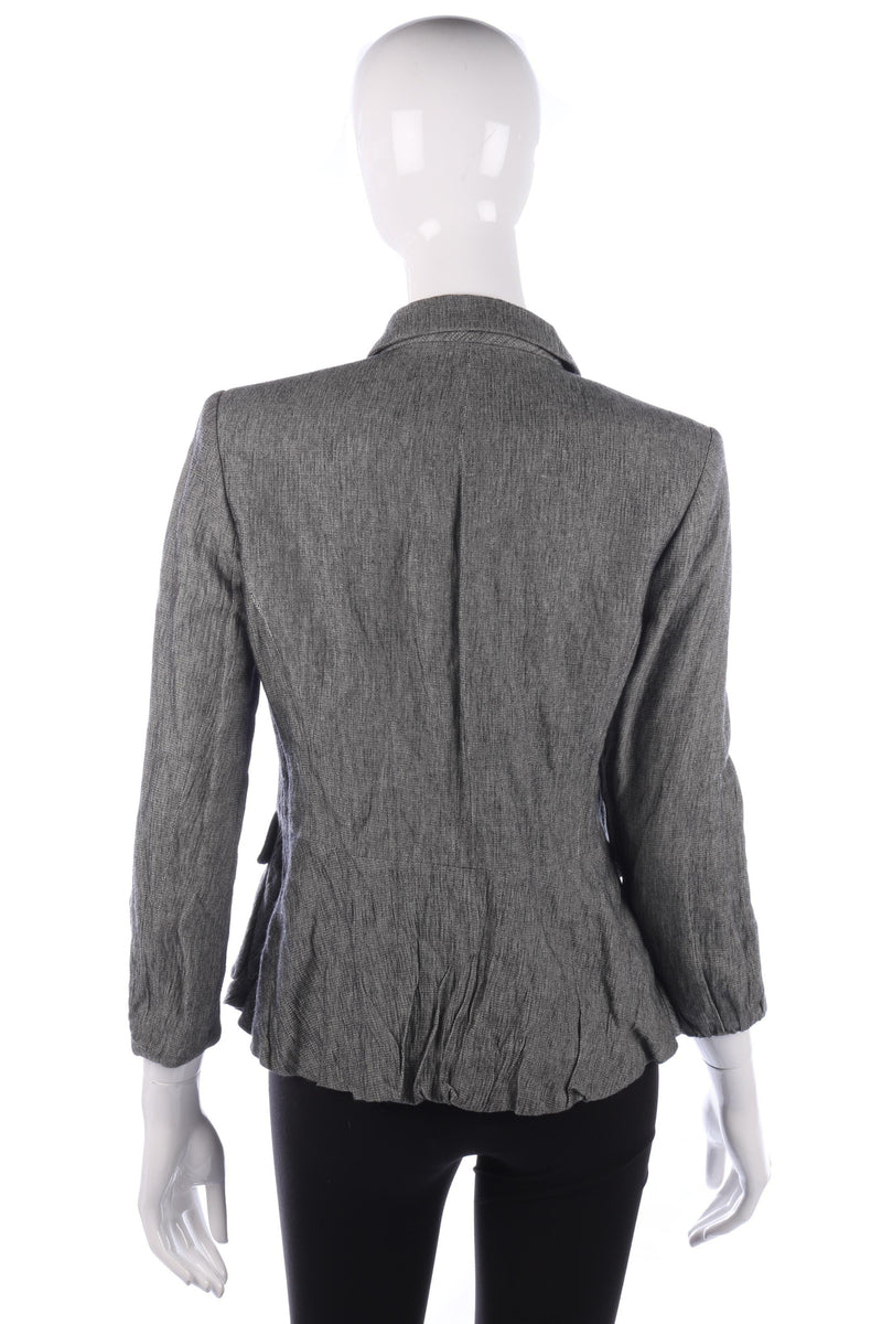 Quin and Donnelly Beautiful Cotton Jacket Grey Size 12