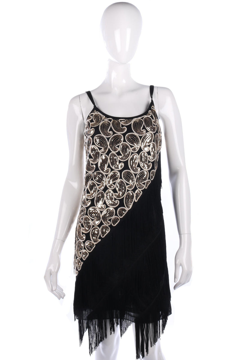 1920s style evening cocktail dress size S