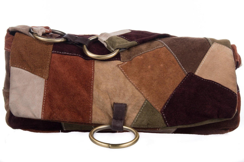 Great american leather works patch handbag