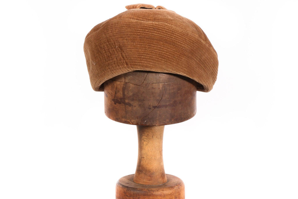 Brown cord hat