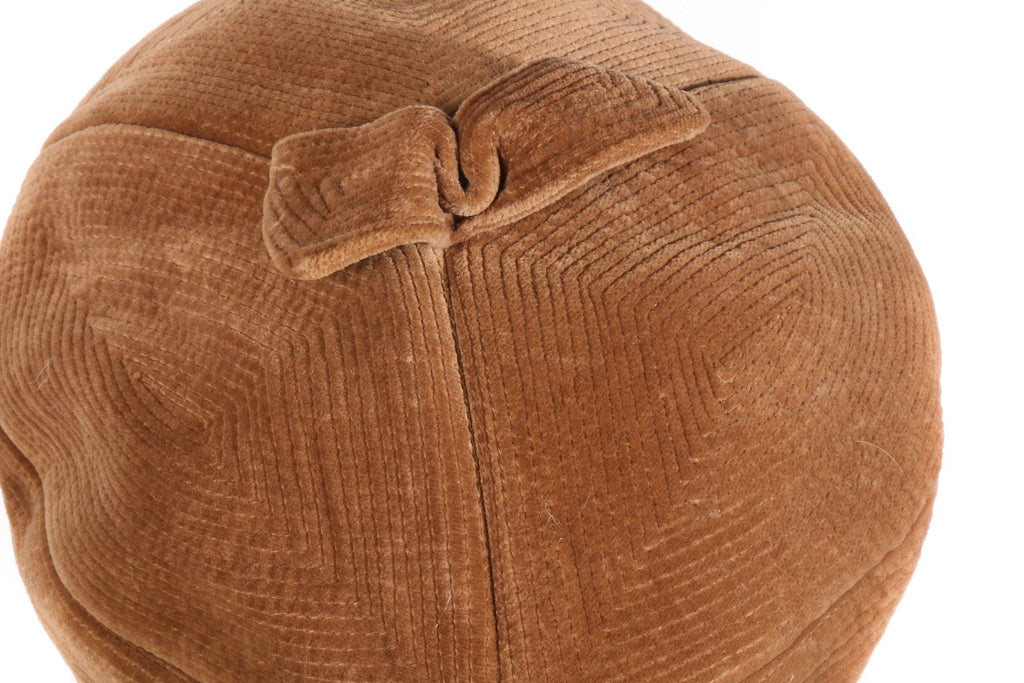 Brown cord hat  detail