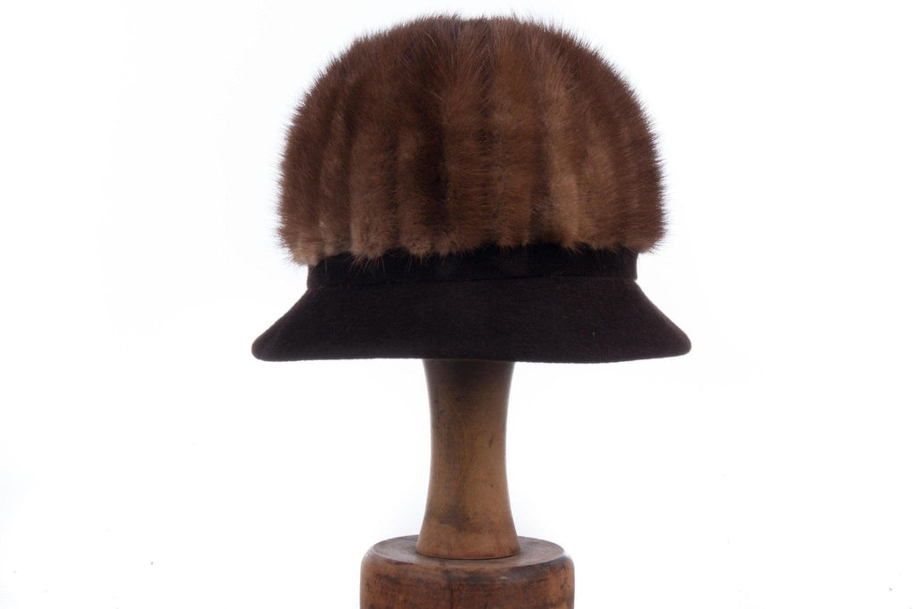 Edward Mann brown mink tall hat