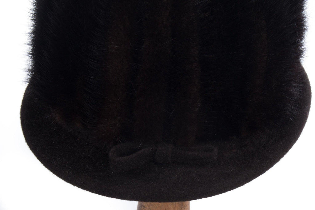 Edward Mann dark brown/black mink tall hat