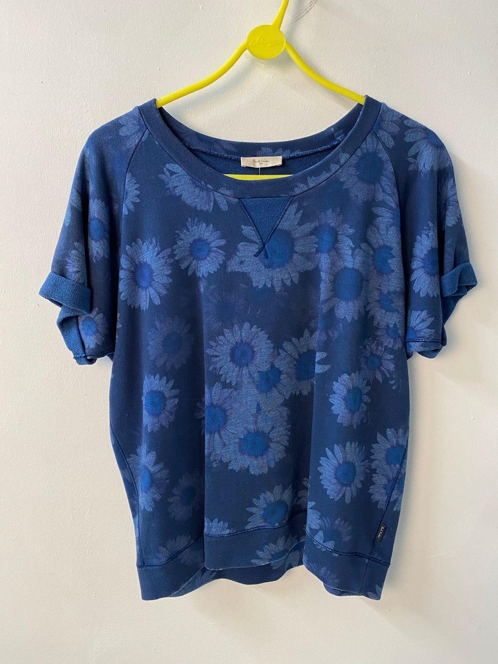 Paul Smith Sweatshirt Blue Floral Pattern Size S