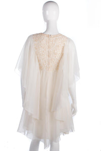 Peterson Maid white/cream floaty dress labelled size 12