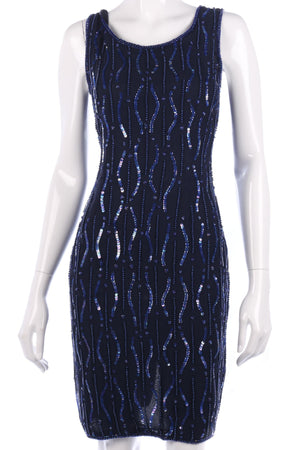 Lovely blue beaded and sequinned dress