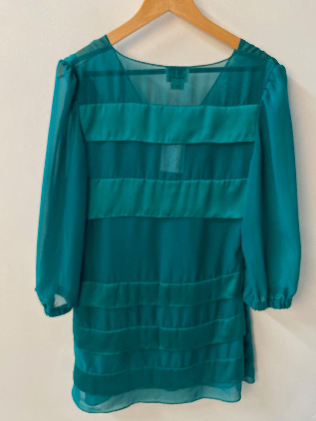 Alice by Temperley Silk Chiffon Tunic Top Jade Green UK 12