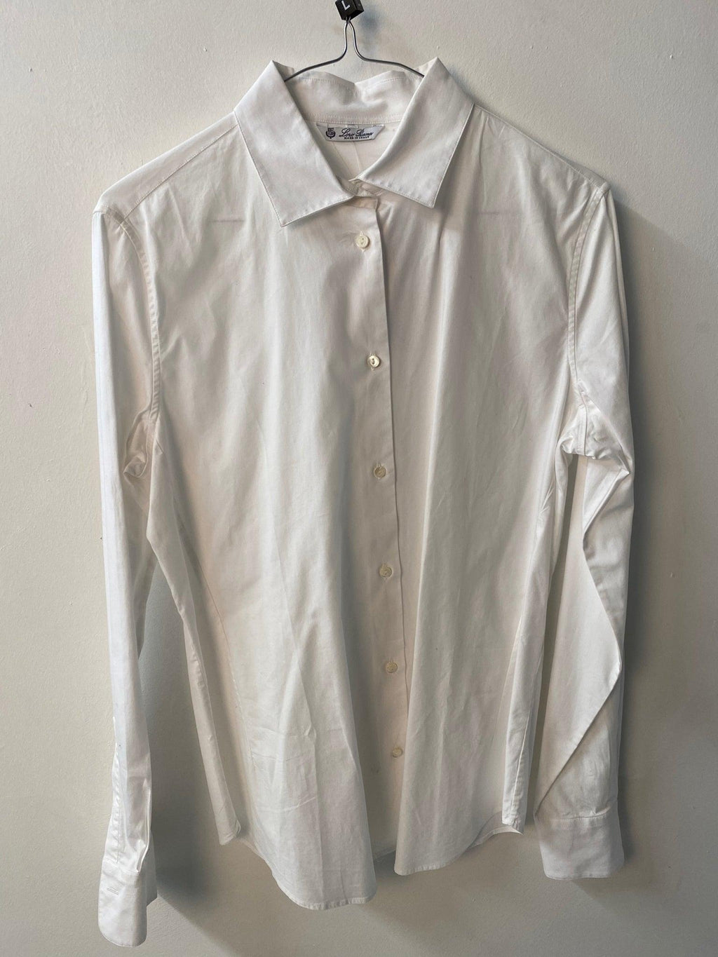 Loro Piana White Cotton Shirt Size IT48 (UK16)