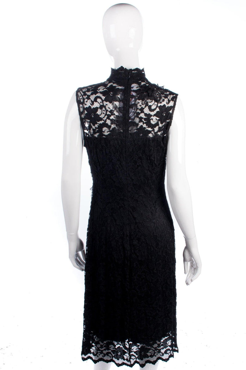 Beautiful vintage black lace dress size M