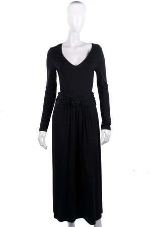 Gabi Lauton Long Black Dress With Belt UK12
