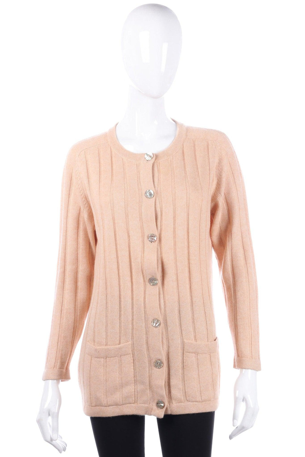 Glen match peach winter cardigan size XS