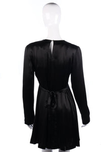 Vintage satin black dress by Sonnetag Mulligan size 12