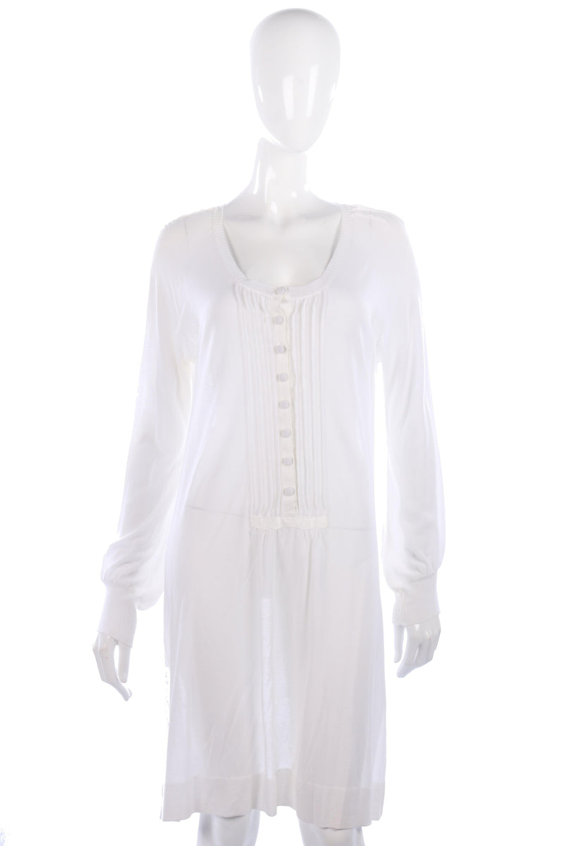Day Birger white cotton knitted tunic dress size M
