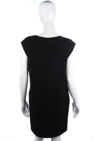Whistles Stunning Black Dress with Swirl Detail Size 10
