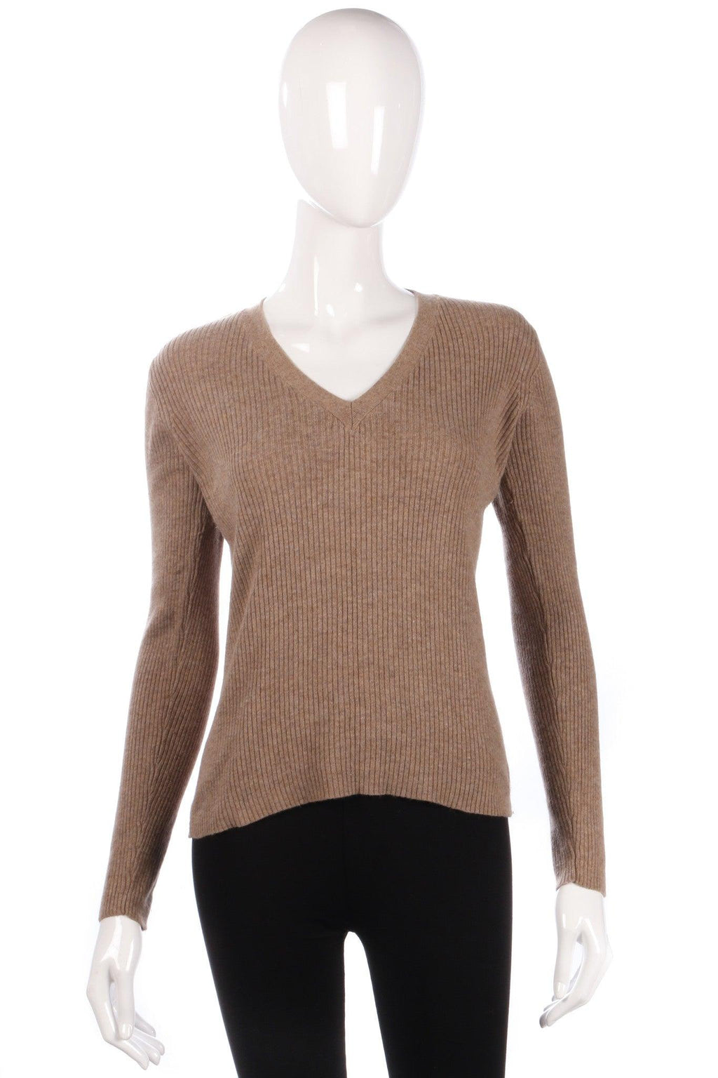 Light brown cashmere jumper size 12