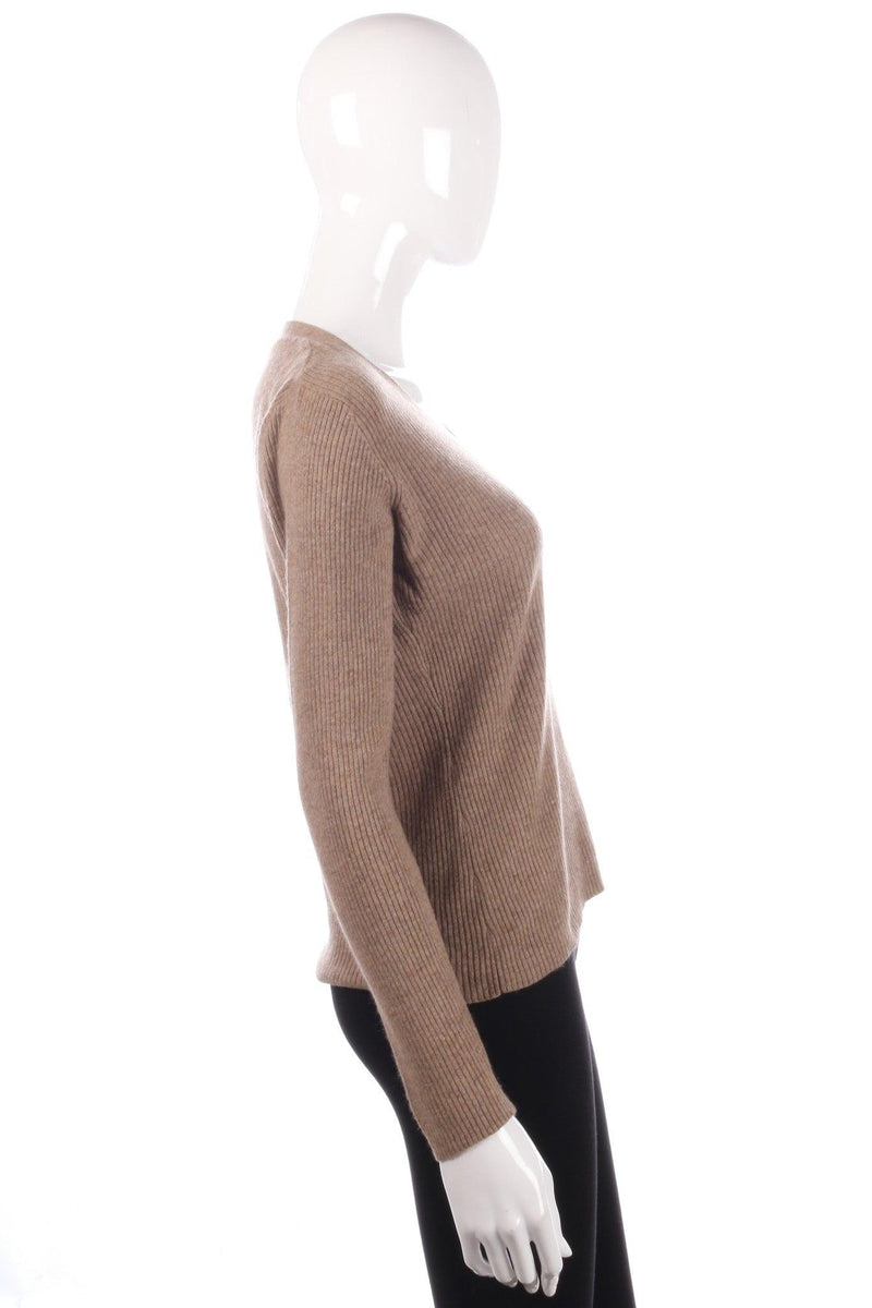 Light brown cashmere jumper size 12 side