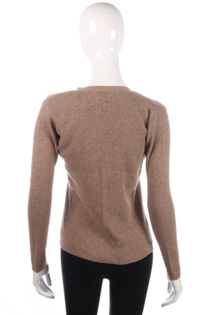 Light brown cashmere jumper size 12 back