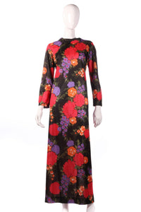 Jeannie black floral maxi dress