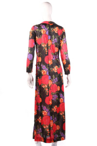 Jeannie black floral maxi dress back