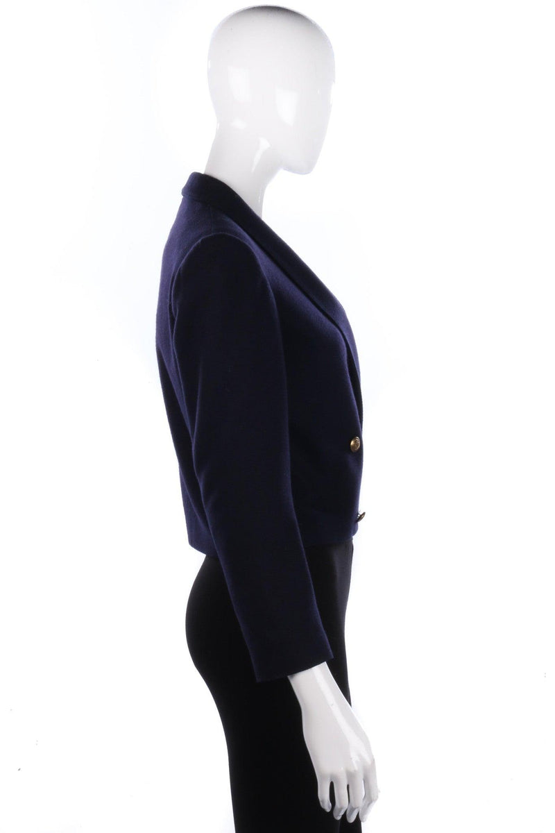 Planet Vintage Jacket Wool Mix Navy Blue UK8