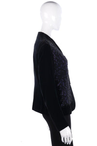 Superb vintage velvet and lace jacket size M/L