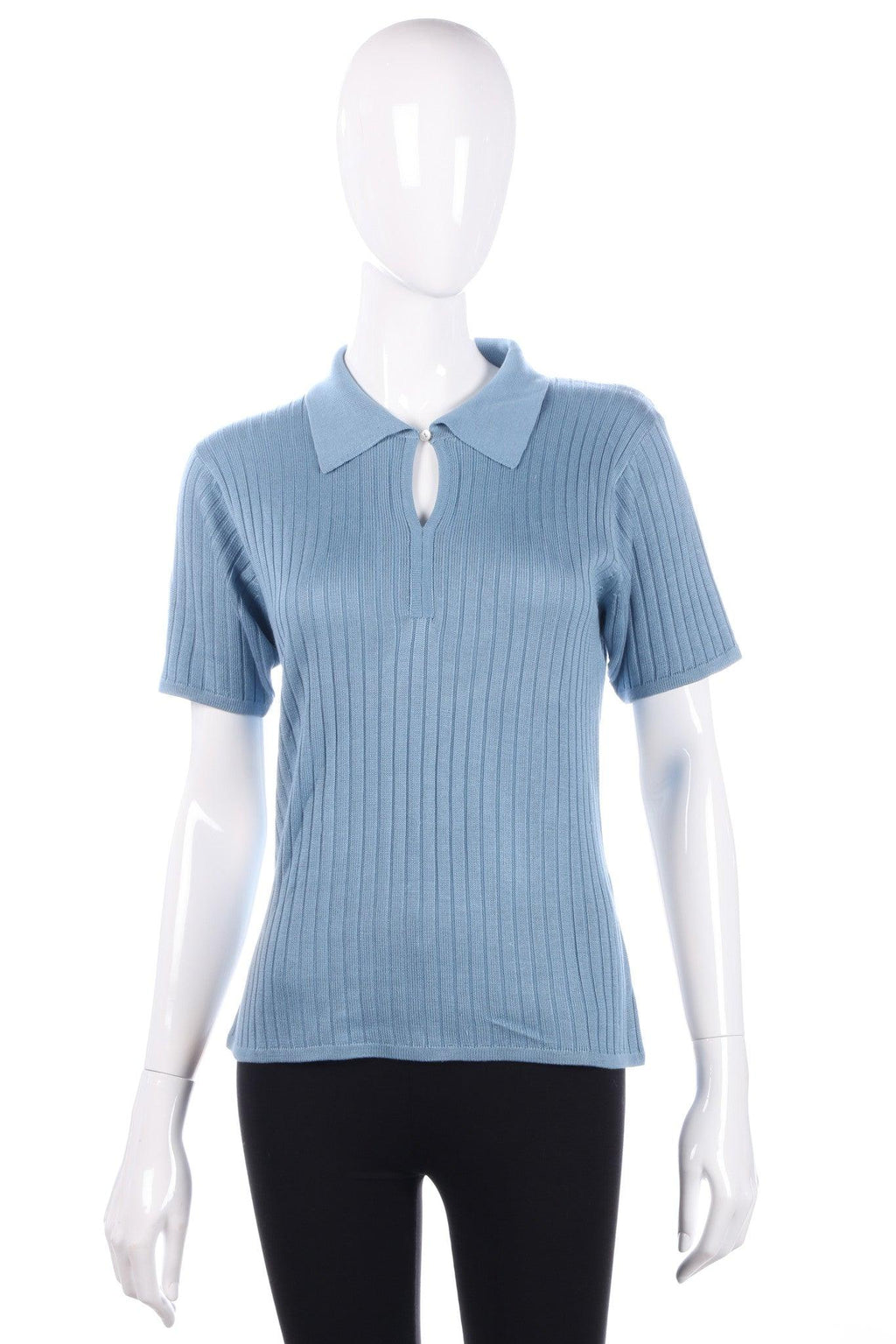 Viz-A-Viz blue top with collar size M