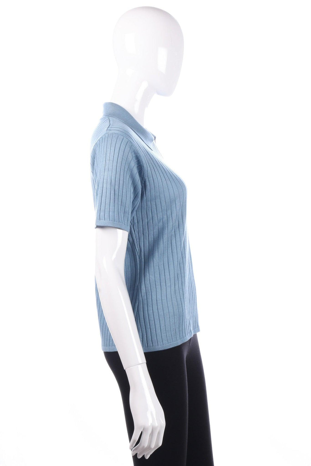 Viz-A-Viz blue top with collar size M side