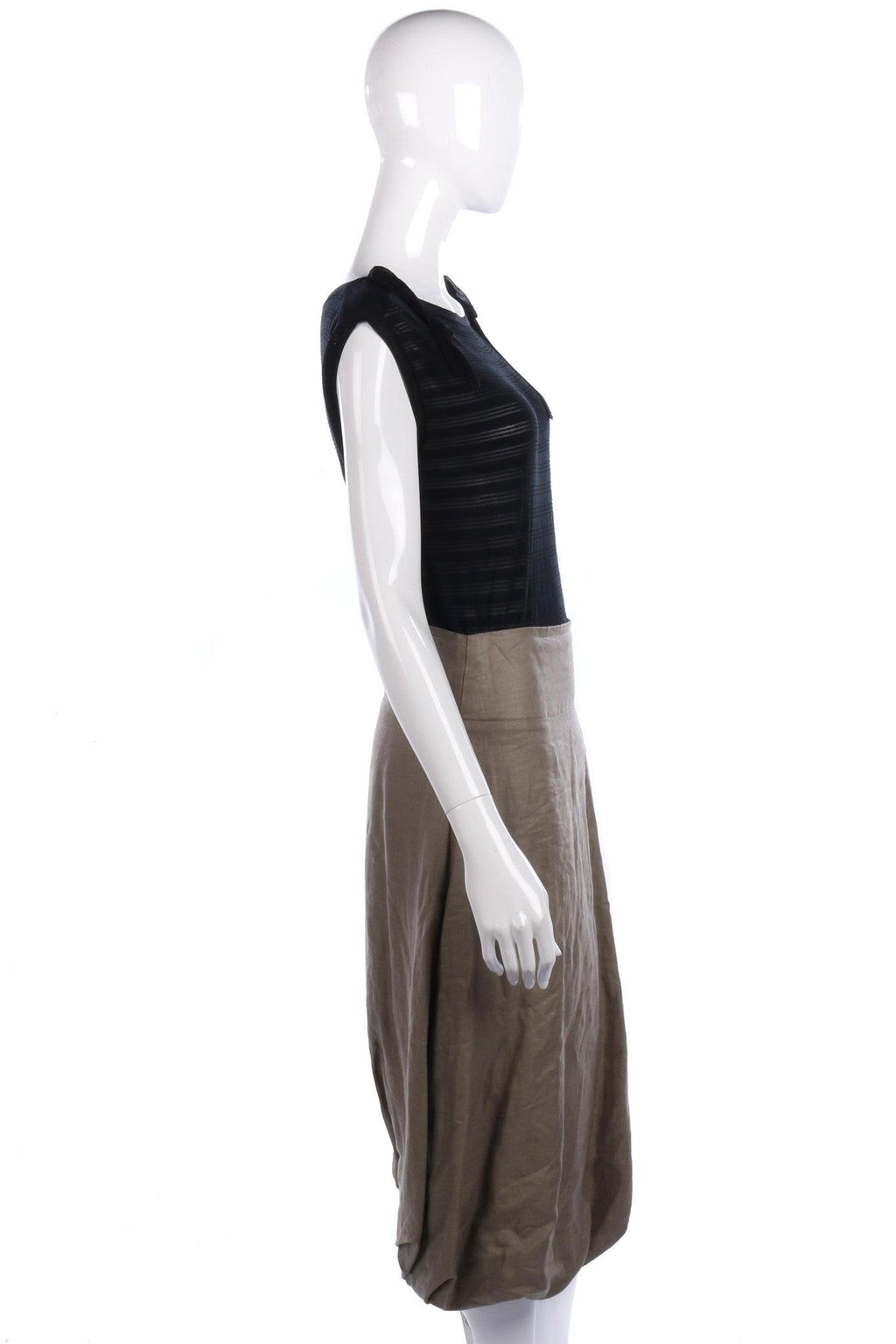 Sarah Pacini Skirt Linen Sage Green Label Size0 (UK6/8)