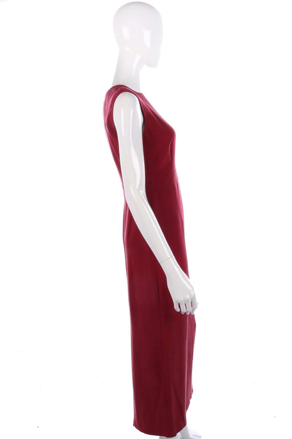 August Silk burgundy evening gown size 10
