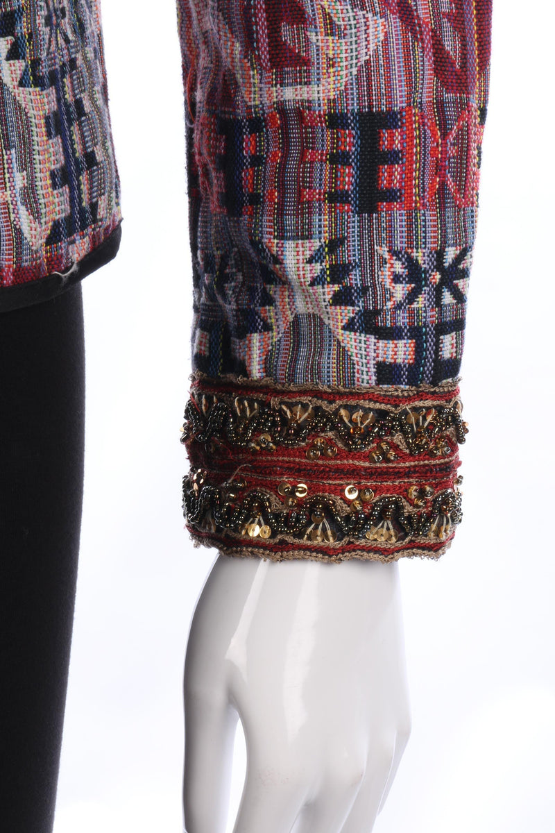 Amichi Woven Jacket Multi Coloured Aztec Style Design Size M