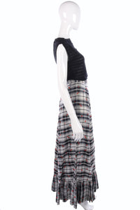 Vintage 1960's Dolly Rockers black and white checked skirt size S