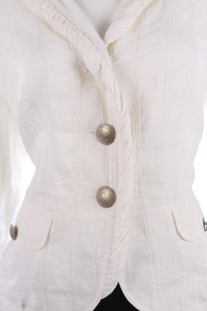 Verse lovely white linen summer jacket with sparkle thread